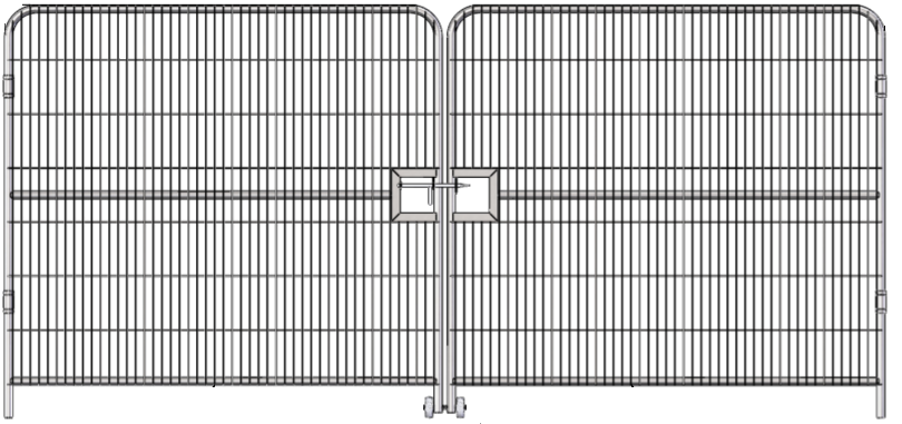4 Metre Double Vehicle Gate for Temporary Fencing