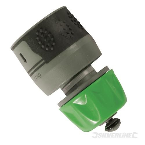Soft-Grip Water Stop Hose Quick Connector