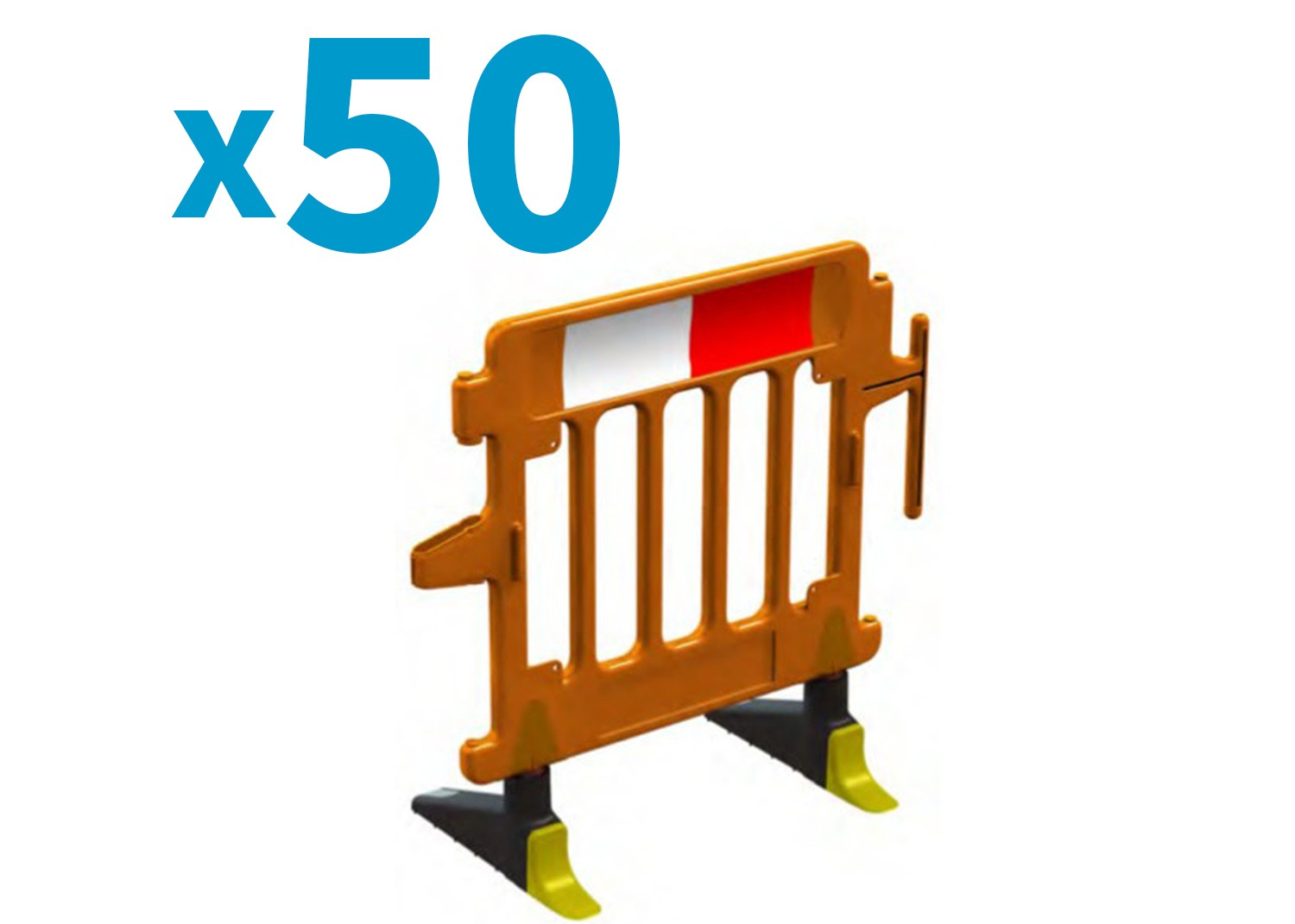Pallet of 50 1m Avalon Barriers