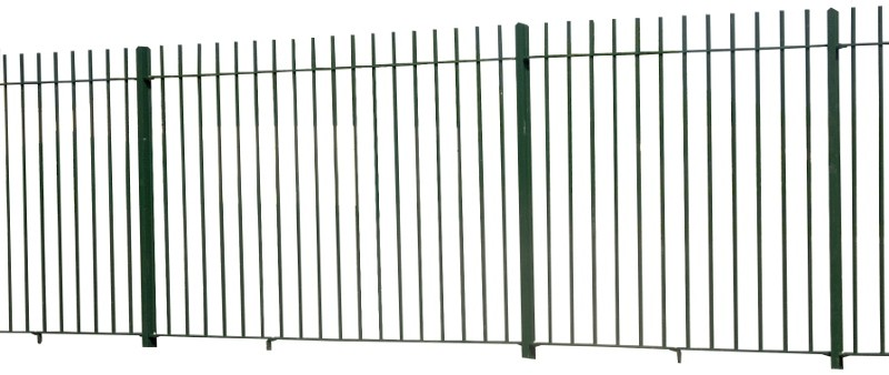 2.1m High Square Cut Vertical Bar Railings