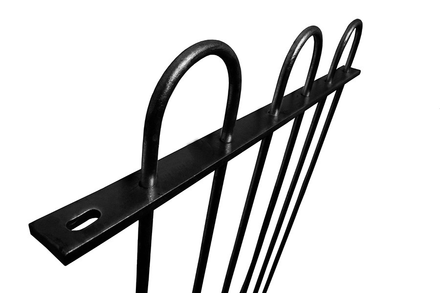 1.8m high Self-Raking Bow Top Railings