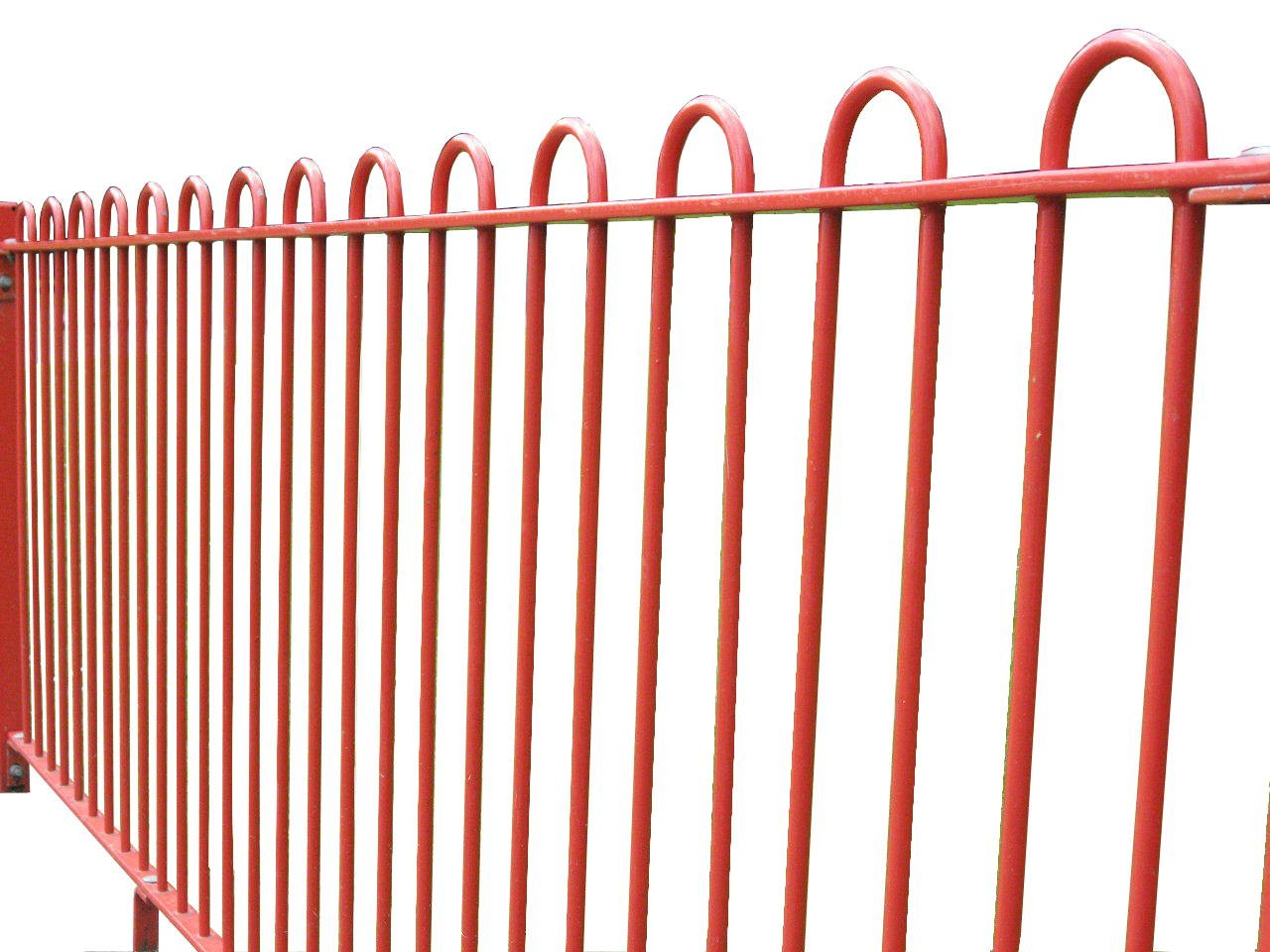 1.8m High Bow Top Security Fencing