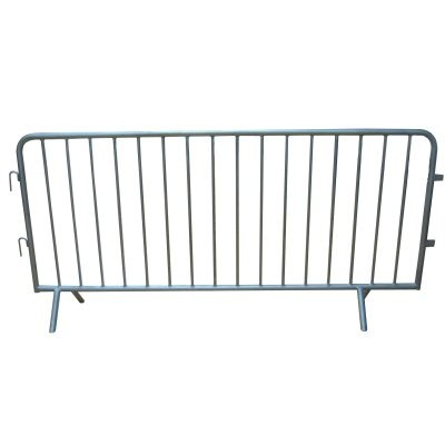 Fixed Leg Galvanised Crowd Control Barrier 2.3m