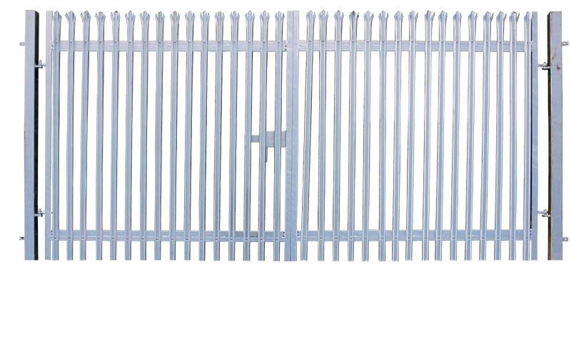 2.0m x 10.0m Double Leaf Palisade Security Gate