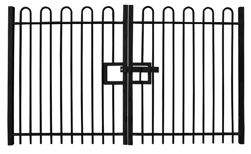 Bow Top Double Leaf Gate
