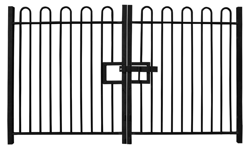 1.2m high Double Leaf Standard Bow Top Railing Gate