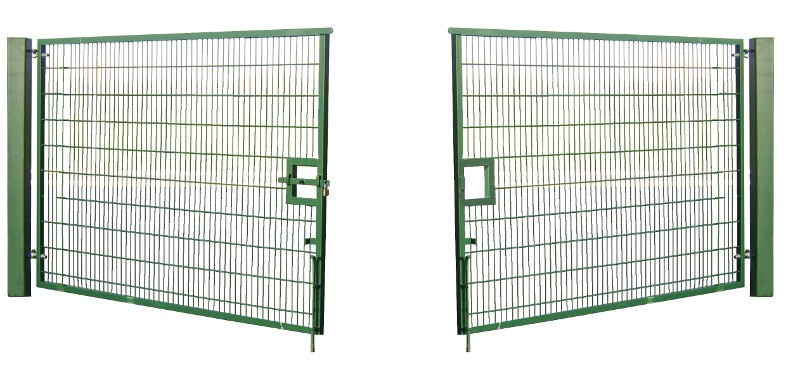 2.0m High 4.0m Wide Double Leaf Mesh Vehicle Gate