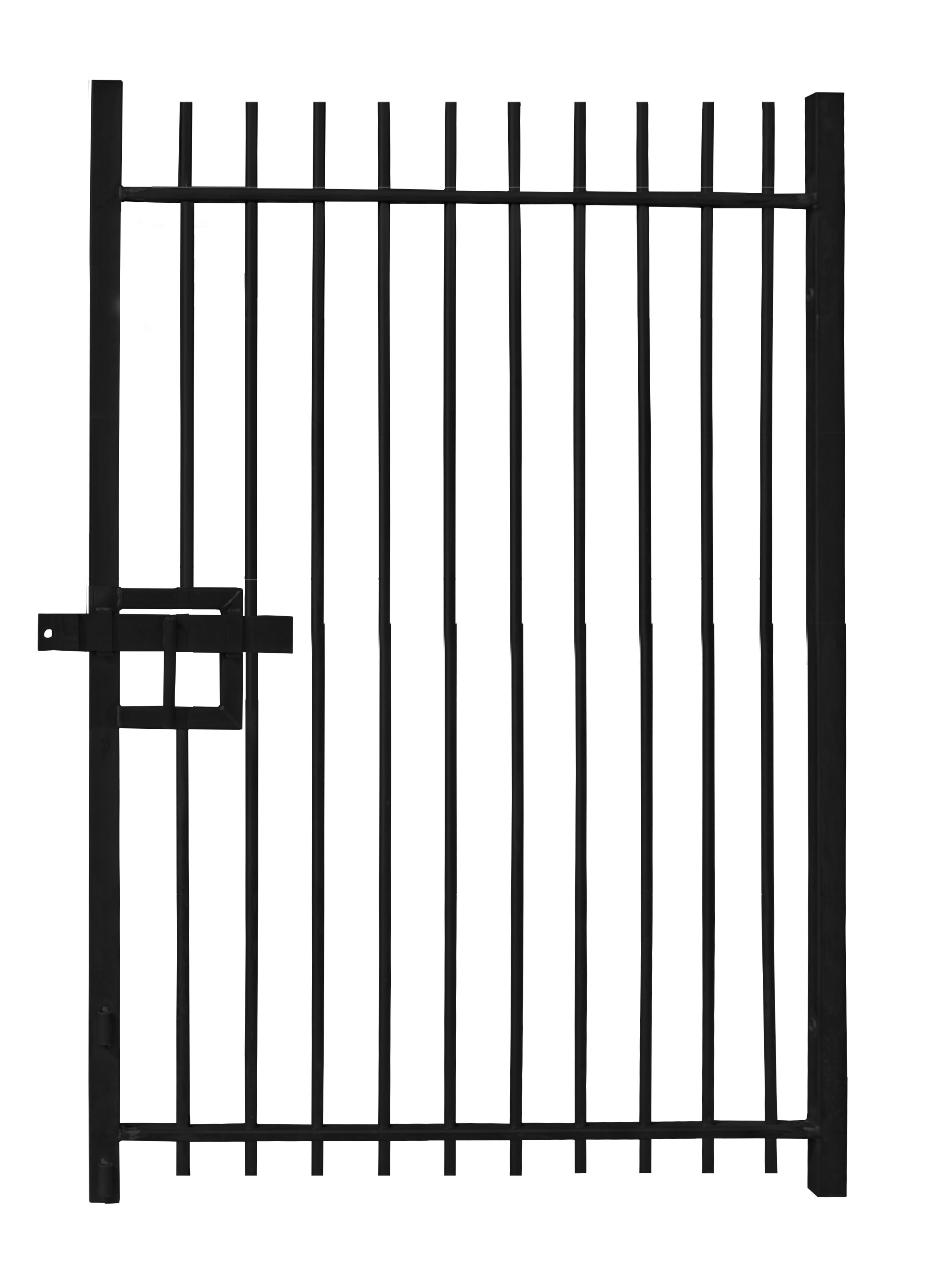 Vertical Bar Single Leaf Gate