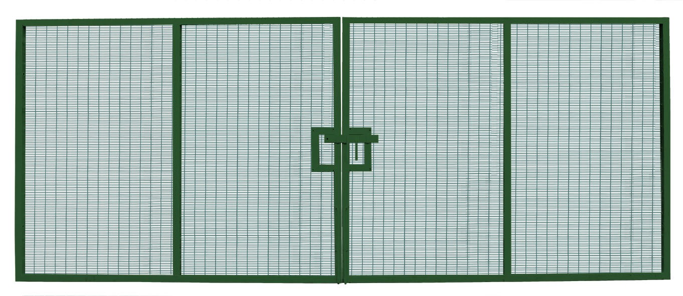 358 Prison Mesh Double Leaf Gate - 3.0m high x 7.0m wide