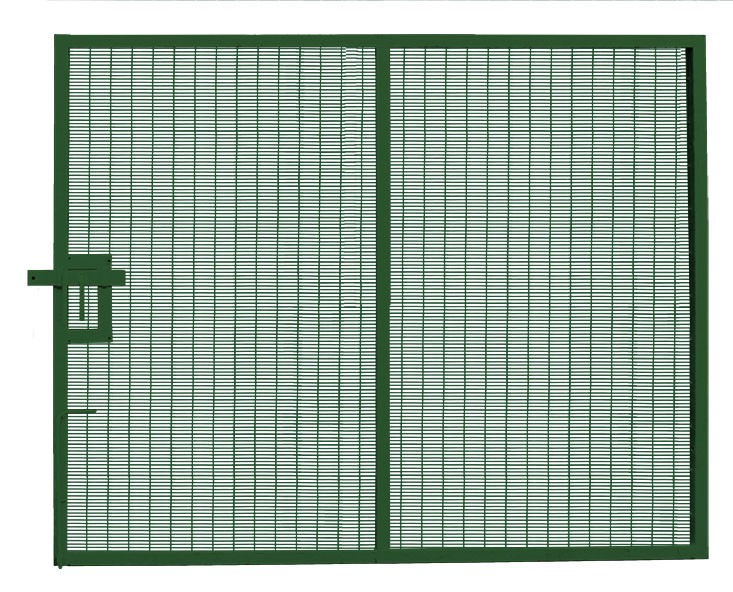 Large Prison Mesh Single Leaf Gate Green
