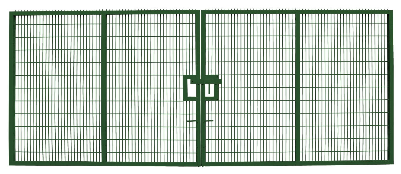 Large Twin Mesh Double Leaf Gate Green