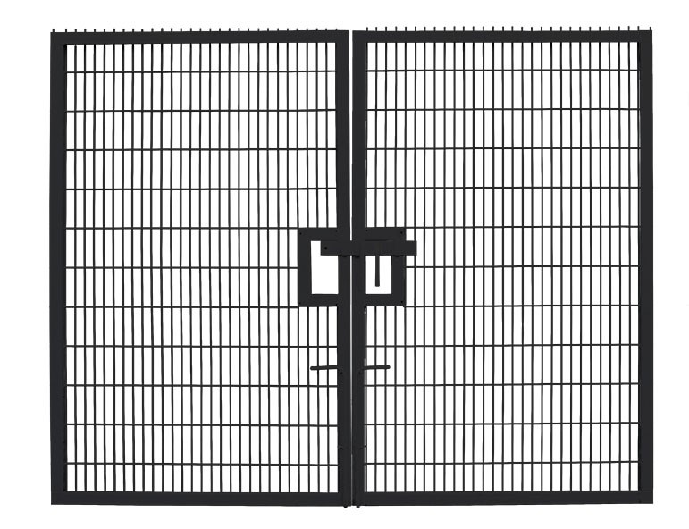 Medium Twin Mesh Double Leaf Gate Black