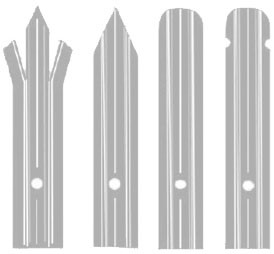 'W' Section Pale to suit 2.1m High Palisade Fencing