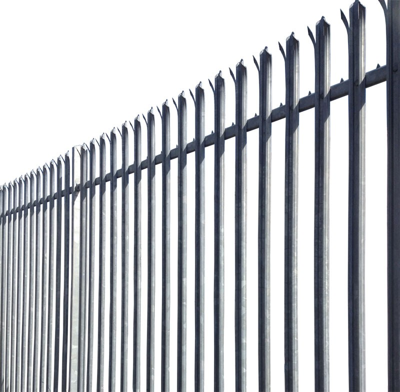 2.4m High 'W' Section Palisade Security Fencing