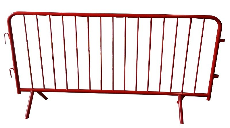 Powder Coated Red and White Crowd Control Barriers