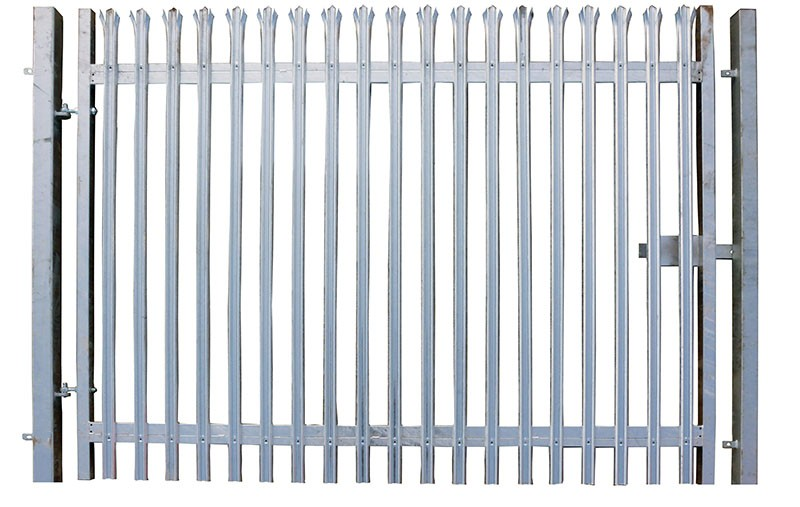 2.1m x 5.0m Single Leaf Palisade Security Gate