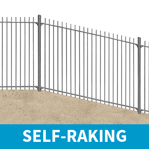 2.4m high Self-Raking Vertical Bar Railings