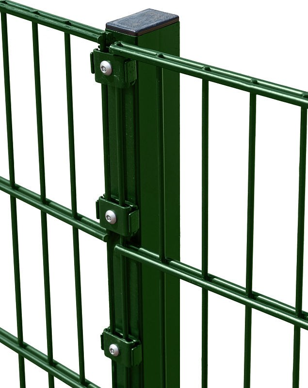 2.4m High Twin Mesh Security Fencing Post with Fixings