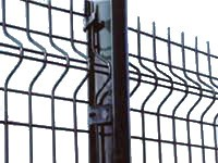 1.8m High 'V' Mesh Security Fencing Post With Fixings