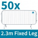 Fixed Leg Crowd Control Barrier 2.3m Package Deal x 50