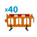 Pallet of 50 Firmus Barriers with standard Feet