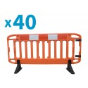 Frontier Barriers with Standard Feet – Pallet Offer