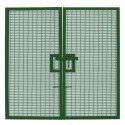 358 Prison Mesh Double Leaf Gate - 2.4m high x 2.0m wide