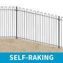 2.1m high Self-Raking Bow Top Railings