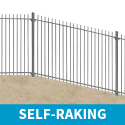 2.1m high Self-Raking Vertical Bar Railings