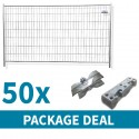 Standard Temporary Fencing Package Deal 50 x Blocks, Clips and Panels