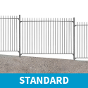 2.4m high Standard Vertical Bar Railings