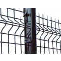 3.0m High 'V' Mesh Security Fencing Post With Fixings
