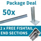 50 x Beams & Posts with 2 FREE Fishtail End Sections