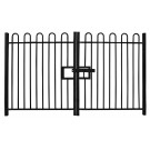 2.1m high Double Leaf Standard Bow Top Railing Gate