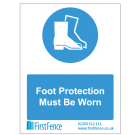 Foot Protection Must Be Worn Health and Safety Sign