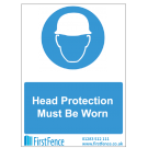 Head Protection Must Be Worn Health and Safety Sign