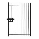 Vertical Bar Single Leaf Gate - Self-Raking Compatible