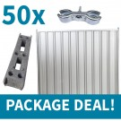 2.0m High Steel Hoarding Package Deal
