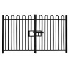 2.4m high Double Leaf Standard Bow Top Railing Gate