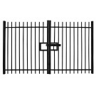 1.0m high Vertical Bar Double Leaf Gate - Self-Raking Compatible