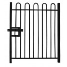 2.4m high Single Leaf Standard Bow Top Railing Gate