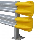 Armco Fishtail End - Yellow PVC