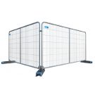 Round Top Temporary Fencing Panel With Centre Bar