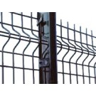 1.8m High 'V' Mesh Security Fencing Corner Post With Fixings