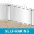 Self-Raking Bow Top Railings