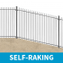 Self-Raking Vertical Bar Railings